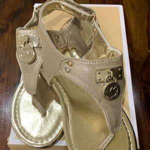Michael Kors Gold Dress Sandals - Girls